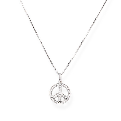 Necklace Peace Zircons
