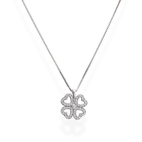 Necklace Quatrefoil Zircons