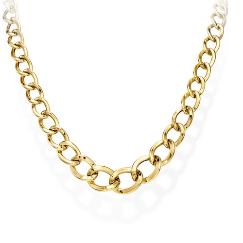 Necklace Rolo Chain Round Golden