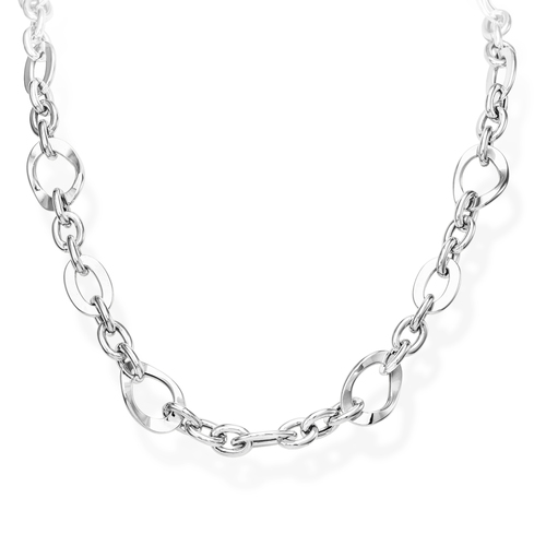 Necklace Rolo Chain Various Rhodium