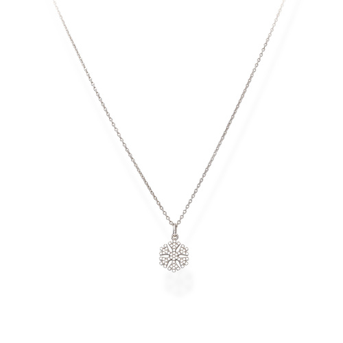 Necklace Snowflake Zircons