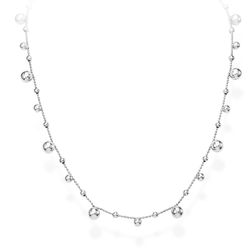 Necklace Spheres Rhodium