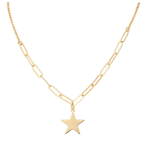Necklace Star Chain Double Golden