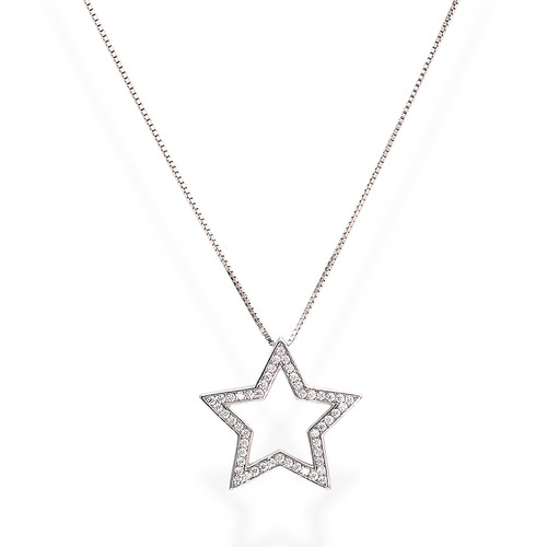 Necklace Star Large Zircons