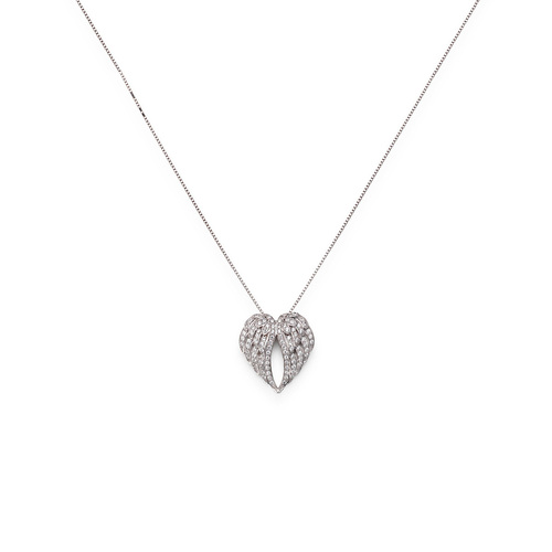 Necklace Wings Cubic Zirconia