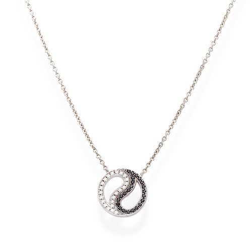 Necklace Yin and Yang Zircons