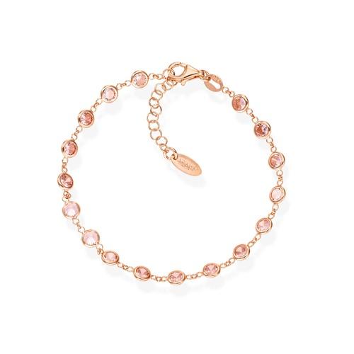 Pink Drops Zirconia Bracelet