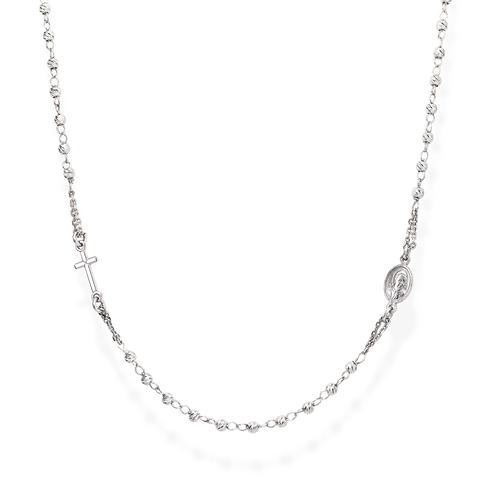 Pinkry Round Necklace Diamond Silver