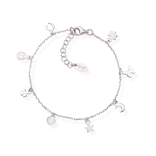 Rhodium Charms Bracelet