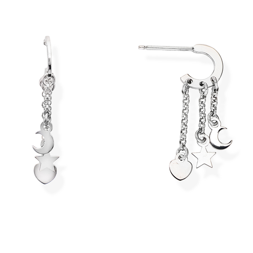 Rhodium Charms Earrings
