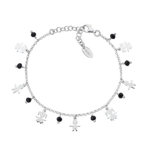 Rhodium Kids Charm Bracelet