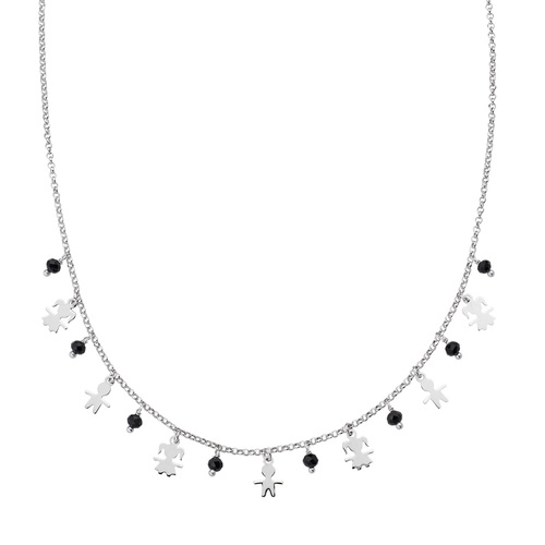 Rhodium Kids Charm Necklace