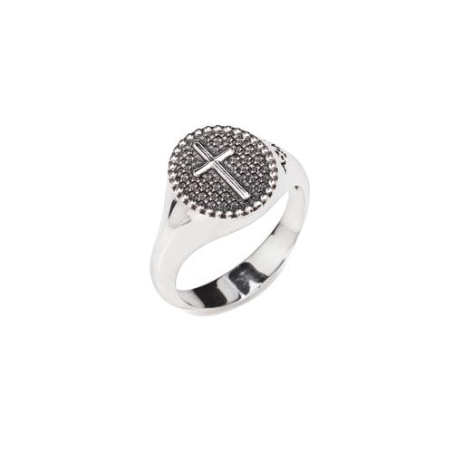 Ring cross AG925 rhodium