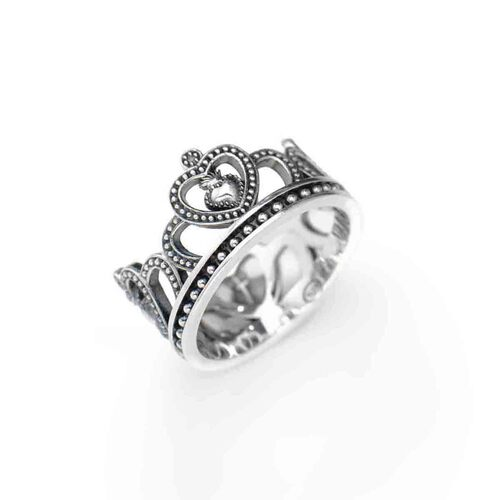Ring Crown in AG925 argentato and brunito