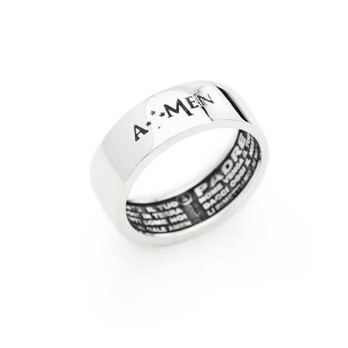 Ring Our Father, in AG925 rhodium and brunito