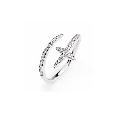 Ring South Cross Cubic Zirconia