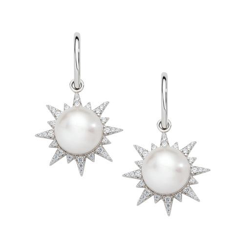 River Pearl Sun Earrings