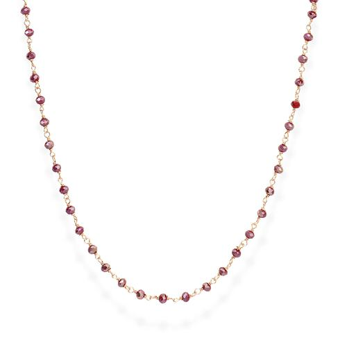 Rosè and Amaranth Crystal Necklace 70cm