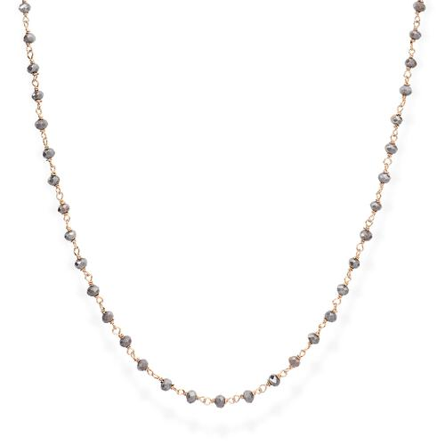 Rosè and Fumé Crystal Necklace 70cm