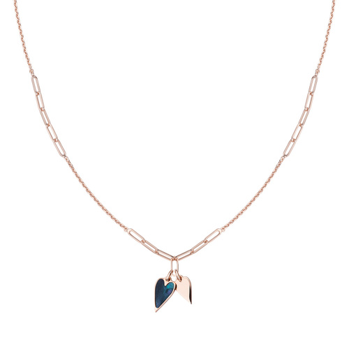 Rosè Hearts Necklace