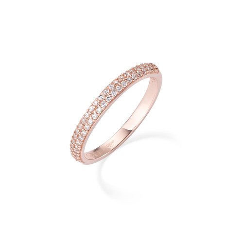 Rosè ring and white zircons