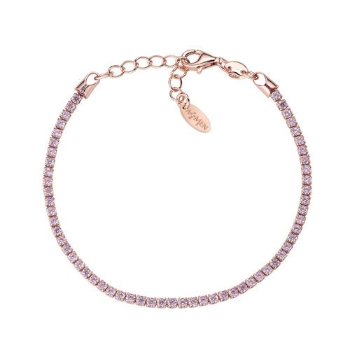 Rosè Tennis Bracelet Pink Zircons