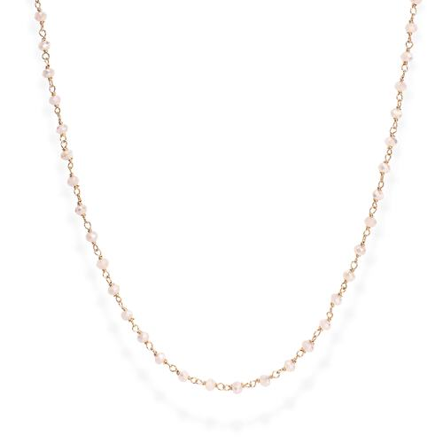 Rosé and Pink Crystal Necklace 45cm