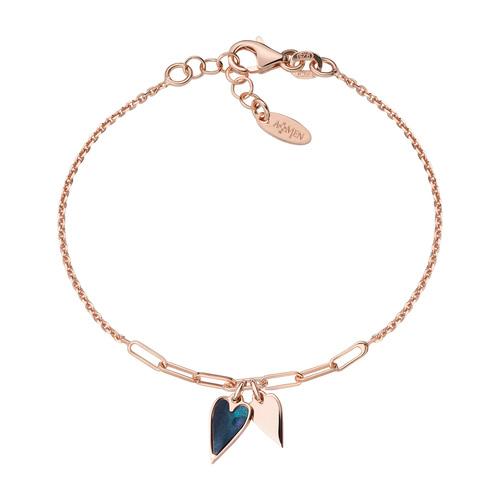 Rosé Hearts Bracelet