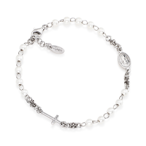 Rosary bracelet AG925 with pearls
