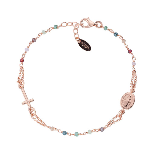 Rosary Bracelet Pastel Multicolor Crystals