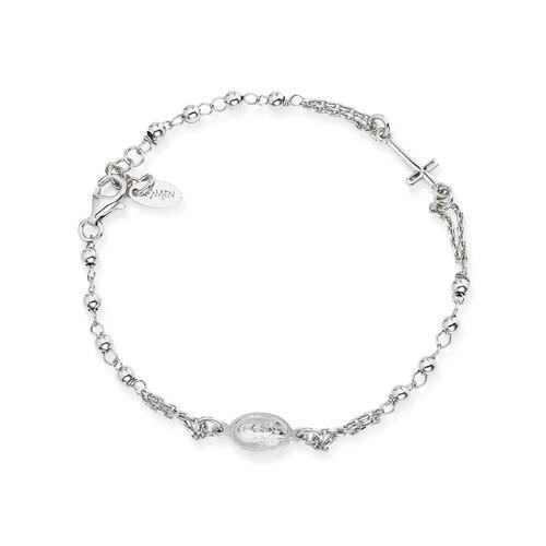 Rosary Bracelet Rhodium