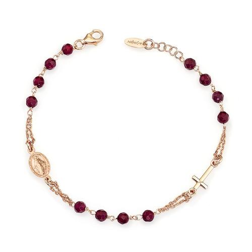 Rosary Bracelet Ruby Agate