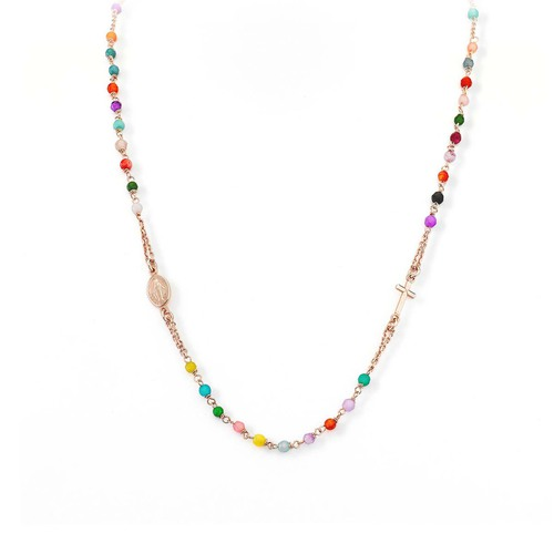Rosary  Multicolor Round Necklace