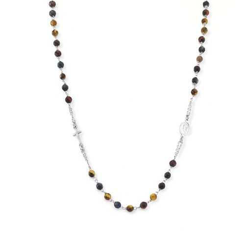 Rosary Round Necklace Tiger's Eye