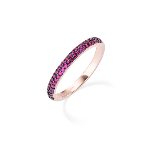 Rose and Ruby Zircons Ring