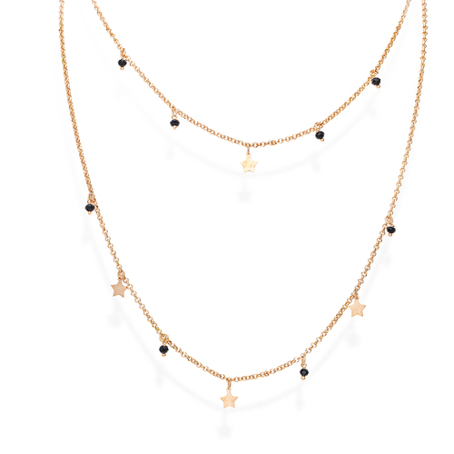 Rose Star Double Necklace