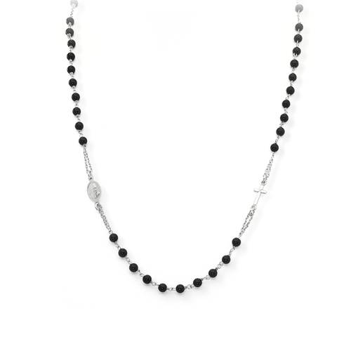Round Rosay Necklace Black Onyx