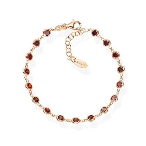 Ruby Drops Zirconia Bracelet