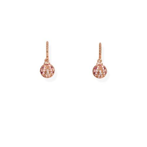 Ruby Zirconia Ladybug Earrings