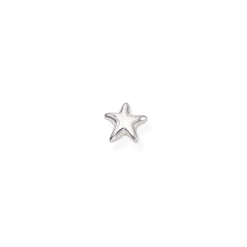 Single Earring Smooth Star