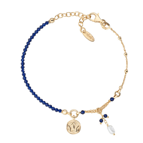 Star and Pearl Medal Bracelet