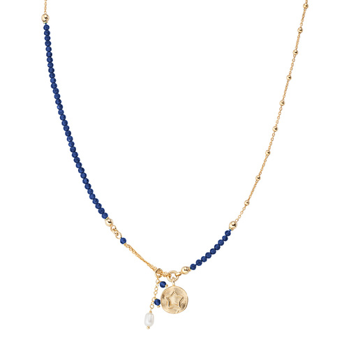 Star and Pearl Medal Necklace