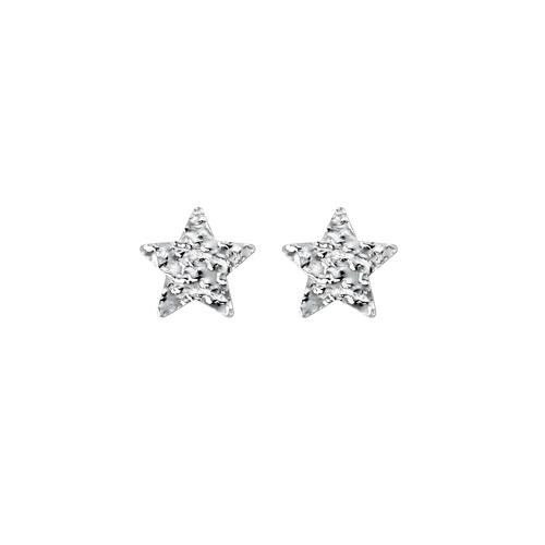 Star Hammered Earrings