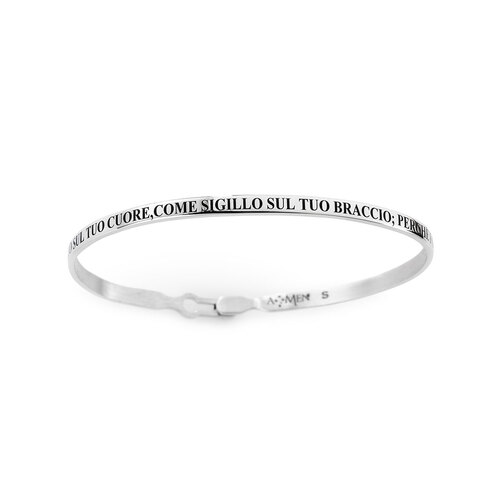 Sterling Silver Bangle Bracelet with Song of Solomon Engraved
