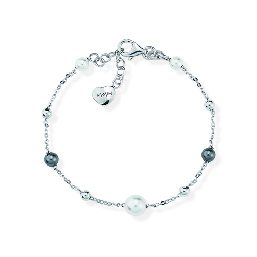 Sterling Silver Bracelet and pearls