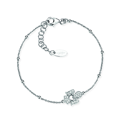 Sterling Silver Bracelet and white zirconia Rhodium
