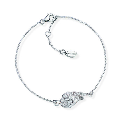Sterling Silver Bracelet and white zirconia