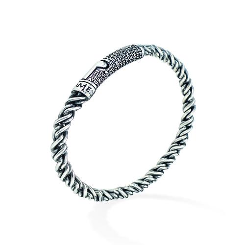 Sterling Silver Bracelet Rhodium