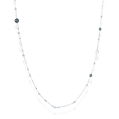 Sterling Silver Necklace and pearls