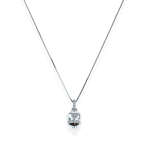 Sterling Silver Necklace and white zirconia